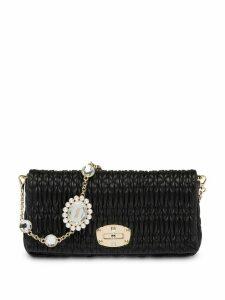 Miu Miu cloquet crystal-embellished shoulder bag - Black