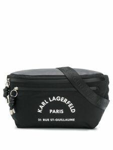 Karl Lagerfeld Rue St Guillaume big bumbag - Black
