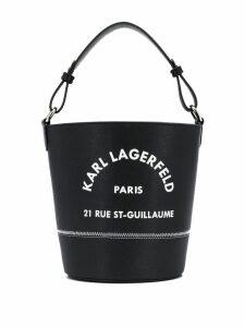Karl Lagerfeld Rue St Guillaume bucket - Black
