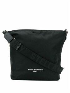 Stella McCartney contrast logo shoulder bag - Black
