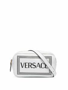Versace logo-print belt bag - White
