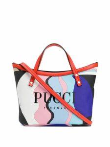 Emilio Pucci Vallauris Print Twist Tote Bag - Black