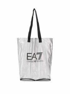 Ea7 Emporio Armani logo shopping bag - Grey