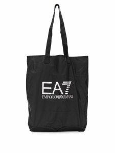 Ea7 Emporio Armani logo shopping bag - Black