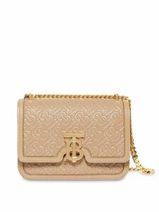 Burberry Small Quilted Monogram Lambskin TB Bag - Neutrals
