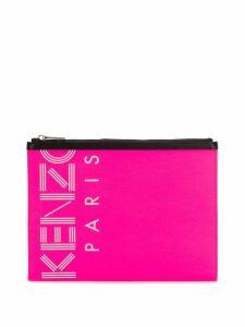 Kenzo logo printed clutch bag - Pink