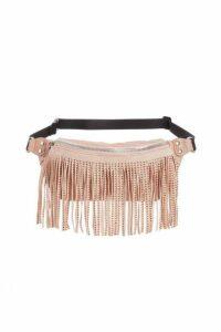 Quiz Pink Jewel Fringe Bum Bag