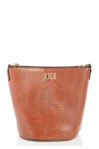 Quiz Brown Chain Strap Bucket Bag