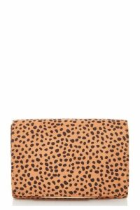 Quiz Brown Dalmatian Print Bag