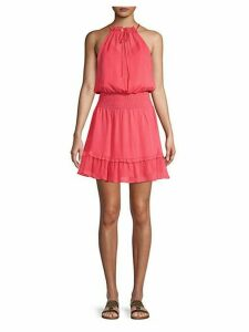 Silk Blouson Dress
