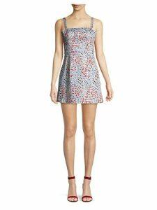 Floral Mini Fit-&-Flare Dress