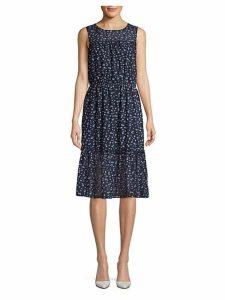 Printed Blouson Dress