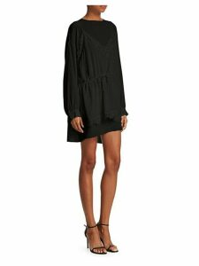 Hassel Silk Lace High-Low Dress