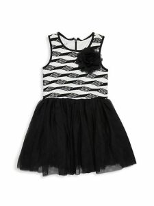 Little Girl's Sleeveless Mesh Dress