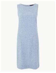 M&S Collection Linen Rich Patch Pocket Shift Dress