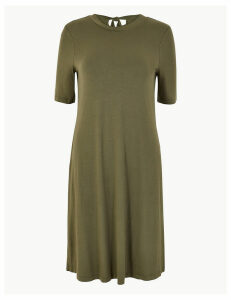 M&S Collection Tie Back Jersey Swing Dress