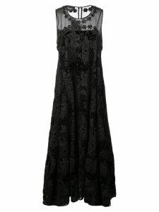Rochas floral brocade dress - Black