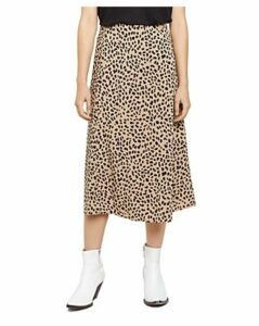 Sanctuary Cheetah-Print Midi Slip Skirt