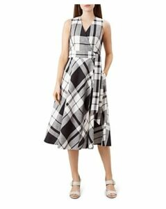 Hobbs London Esther Plaid Wrap Dress