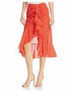 Finders Keepers Rosie Polka-Dot Ruffle Skirt