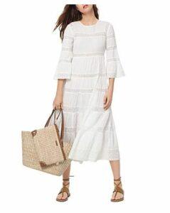 Michael Michael Kors Lace-Inset A-Line Midi Dress