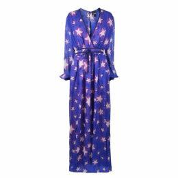 JUST CAVALLI Star Print Maxi Dress
