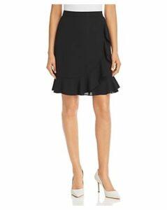 Karl Lagerfeld Paris Ruffled Faux-Wrap Skirt