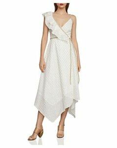 Bcbgmaxazria Metallic Clip Dot Wrap Dress