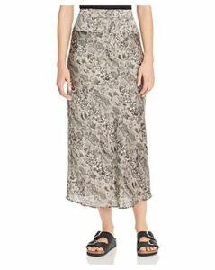 Free People Normani Leopard-Print Midi Skirt