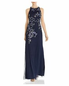 Aidan Mattox Embellished Floral Gown