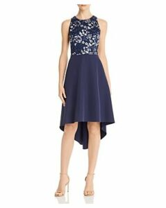Aidan by Aidan Mattox Embellished Crepe Dress