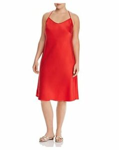 Maree Pour Toi Plus Silk Slip Dress