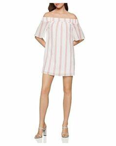 Bcbgeneration Striped Off-the-Shoulder Gauze Dress