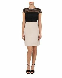 Gerard Darel Grazia Lace Detail Dress