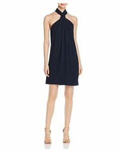 Elie Tahari Ivanna Sleeveless Twist-Front Shift Dress