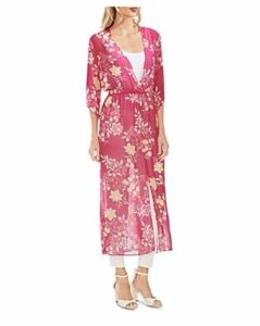Vince Camuto Sheer Floral Maxi Dress