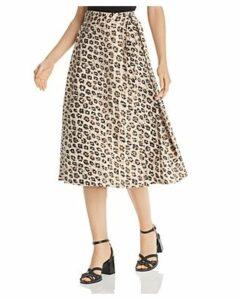 Joie Collen Leopard-Printed Wrap Skirt