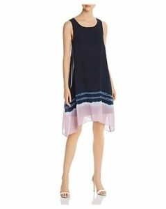 Donna Karan New York Sleeveless Tie-Dye-Hem Shift Dress