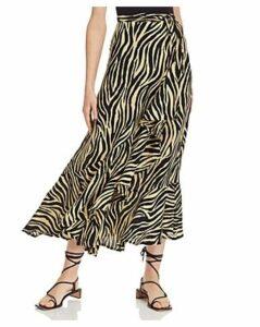 Faithfull the Brand Jasper Zebra-Print Midi Skirt