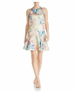 Aidan by Aidan Mattox Printed Jacquard Party Dress
