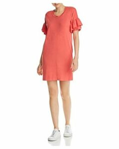 Sundry Ruffled-Sleeve Dress