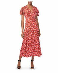 French Connection Cerisier Botanical-Print Midi Dress