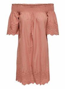 Womens **Only Pink Off Shoulder Dress- Pink, Pink