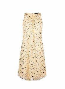 Womens **Showcase Gold Embellished Trapeze Dress- Gold, Gold