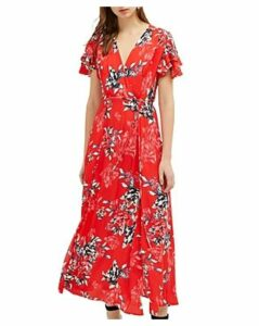 French Connection Coletta Floral-Print Maxi Wrap Dress