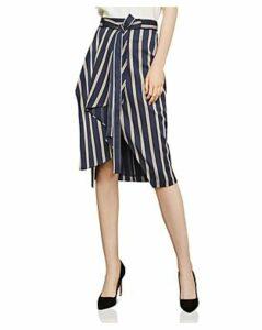 Bcbgmaxazria Striped Asymmetric Skirt