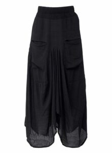 Womens *Izabel London Black Floaty Sheer Skirt- Black, Black
