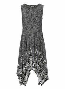 Womens *Izabel London Black Hanky Hem Dress- Black, Black