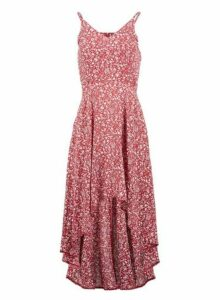 Womens *Izabel London Red Ditsy Floral Print Dress, Red