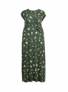 Womens **Dp Curve Green Ditsy Print Maxi Dress- Green, Green